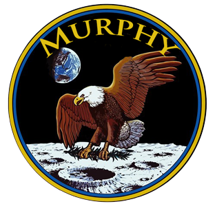 An Apollo 11 patch that says Murphy